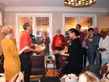 Hank Presenting Awards at the Annual Working Title Playwrights Party